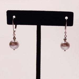 Gray Freshwater Pearl dangle earrings